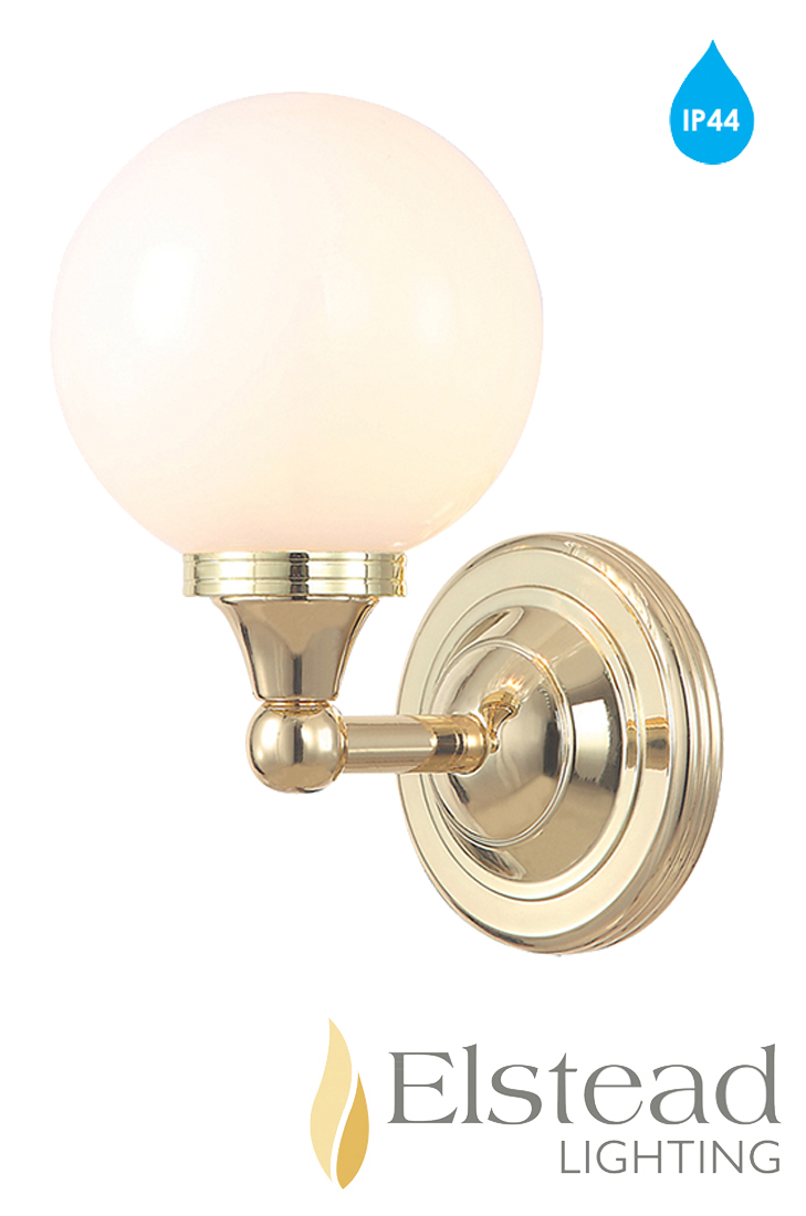 Elstead 39 Austen 39 Ip44 1 Light Polished Brass Bathroom Wall Light Bath Austen4pb From Easy Lighting
