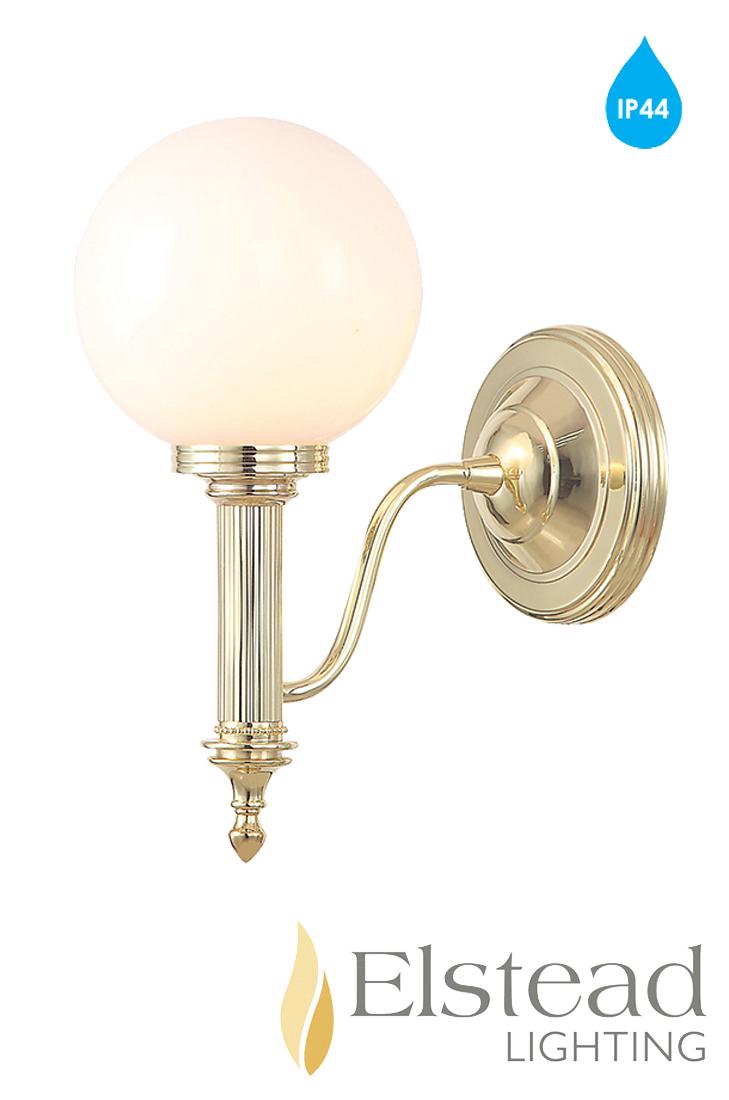 Elstead 39 Carroll 39 Ip44 1 Light Polished Brass Bathroom Wall Light Bath Carroll4pb From Easy