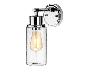 Elstead Morvah 1 Light Wall Light, Polished Chrome Finish - BATH/MORVAH1 PC