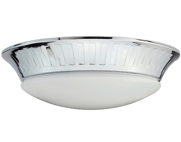 Elstead Whitby Bathroom Flush Ceiling Light, Polished Chrome - BATH/WHITBY/F