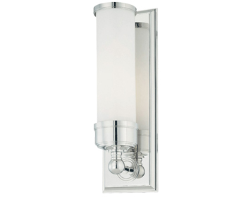 Elstead Worcester 1 Light Bathroom Wall Light, Polished Chrome - BATH/WS1