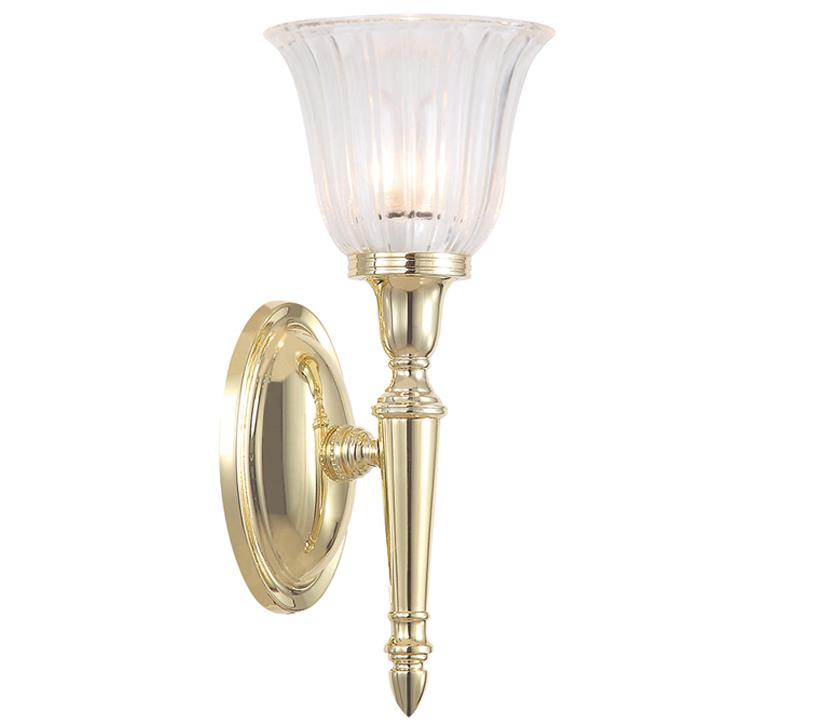 Elstead Dryden Rated Bathroom Single Wall Light Polished Brass