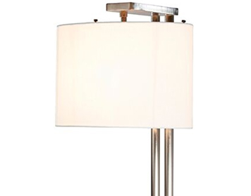 Elstead Belmont 1 Light Floor Lamp, Brushed Nickel Finish - BELMONT FL