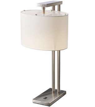 Elstead Belmont 1 Light Table Lamp, Brushed Nickel Finish - BELMONT TL