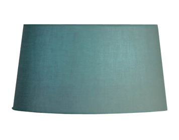 Interiors 1900 Tapered Cylinder Shade, Turquoise Lined & Grey Outer - C11SHSTG