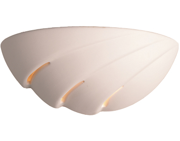 Firstlight Ceramic Wall Light, Unglazed Finish - C312UN