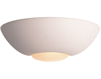 Firstlight Ceramic Wall Light, Unglazed With Acid White Glass - C315UN