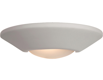 Firstlight Ceramic Wall Light, Unglazed With Acid White Glass - C316UN
