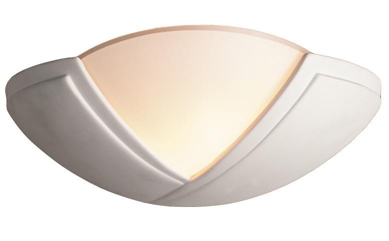 Unglazed Ceramic Wall Lights : Firstlight Ceramic Wall Light, Unglazed With Acid White Glass - C322UN from Easy Lighting
