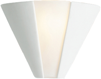 Firstlight Ceramic Wall Light, Unglazed With Acid White Glass - C332UN