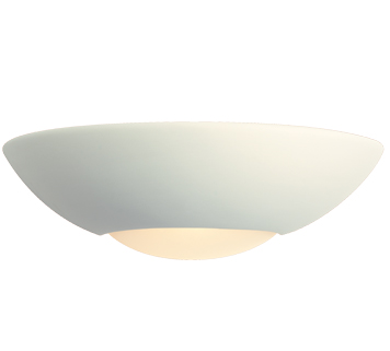 Firstlight Ceramic Low Energy Wall Light, Unglazed With Acid White Glass - C333UN