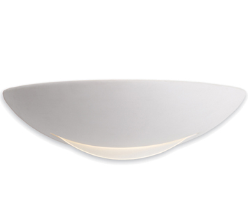 Firstlight Ceramic Low Energy Wall Light, Unglazed With Acid White Glass - C337UN