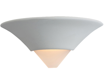 Firstlight Ceramic Wall Light, Unglazed With Acid White Glass - C340UN