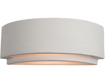 Firstlight Ceramic Wall Light, Unglazed - C345UN
