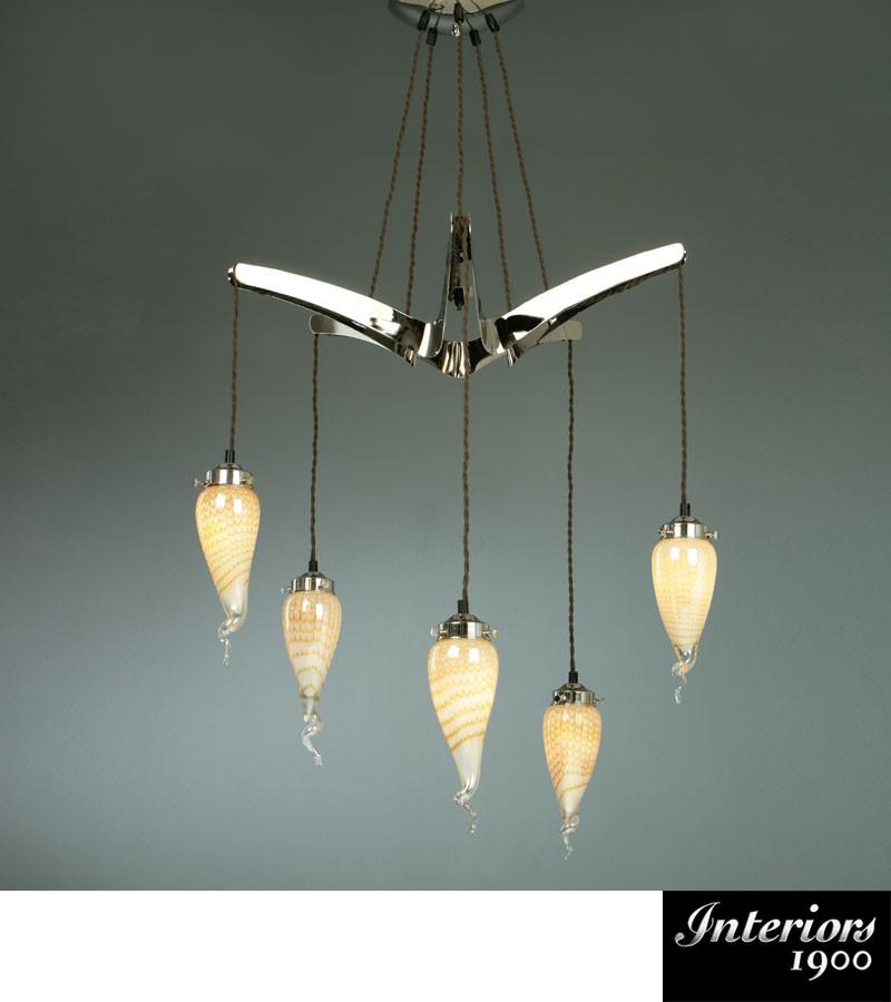 Interiors 1900 Starfish 5 Light Ceiling Light Polished