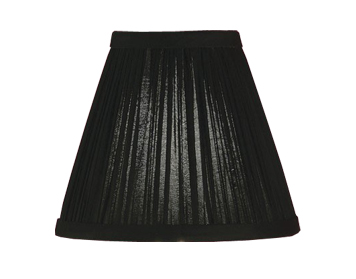 Interiors 1900 New Classic Tapered Cylinder Shade, Black Organza Fabric - CA1BSHN