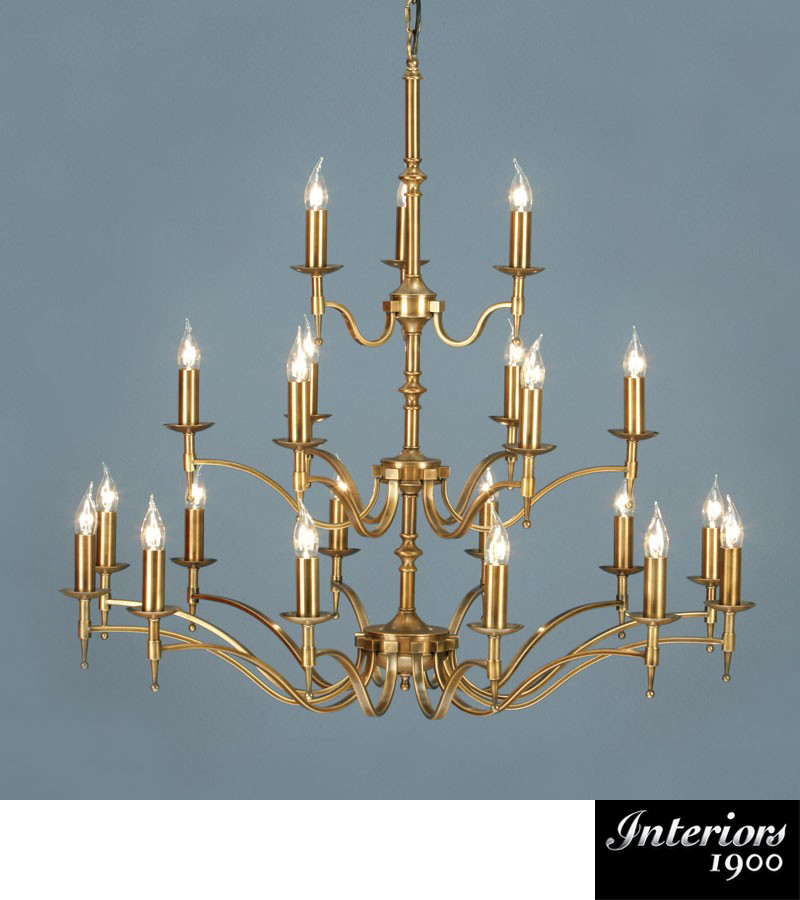 Interiors 1900 Stanford 21 Light Chandelier Antique