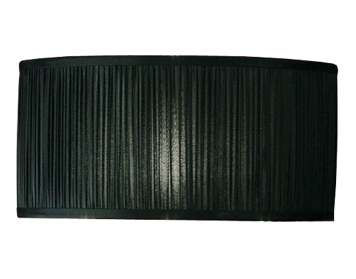 Interiors 1900 Straight Sided Cylinder Shade, Black Organza Fabric - CA2BSHN