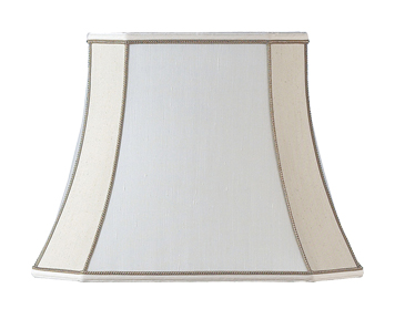 Endon Camilla Tapered Shade (140mm), Two Tone Cream Faux Silk Finish - CAMILLA-5.5