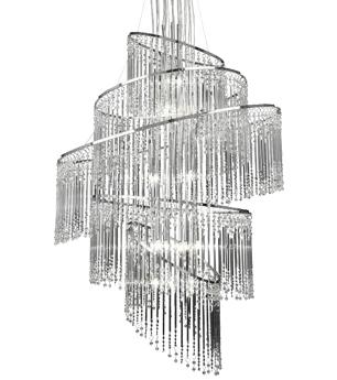 Endon Camille 4 Light Flush Ceiling Light Clear Glass