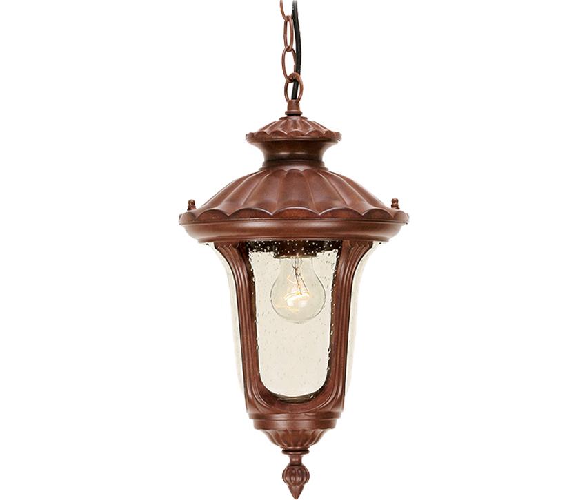Chicago Lighting Company: Elstead Chicago 1 Light Small Chain Lantern, Rusty Bronze