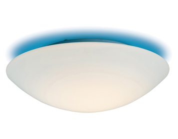 Firstlight Disc Flush Fitting Ceiling Light, Opal Glass Finish With Blue Ceiling Effect - CF10BL