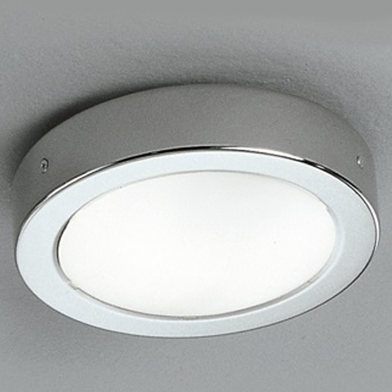 Flush bathroom ceiling lights from easy lighting franklite small 160mm dia opal glass chrome flush light ip54 bathroom ceiling fitting aloadofball Image collections