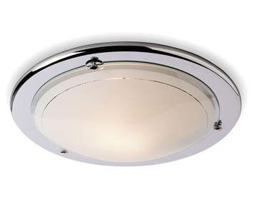 Firstlight Flush Fitting Ceiling Light, Chrome Finish With Opal Glass - CF25CH