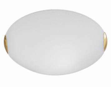 Franklite Small (305mm) 1 Light Flush Ceiling Light, Brass Finish Clasps With Opal Glass - CF5022