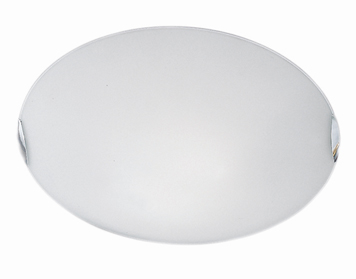 Franklite Circular (300mm) Flush Ceiling Light, Chrome Finish Clasps With Opal Glass - CF5024