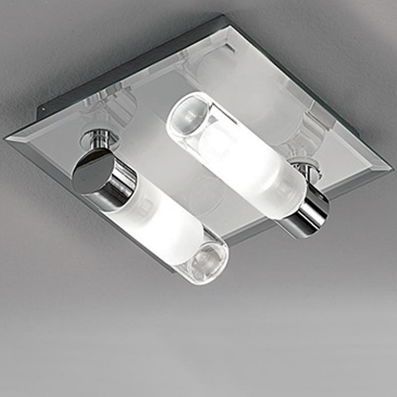 Franklite Bathroom Single Wall Light Glass Amp Chrome