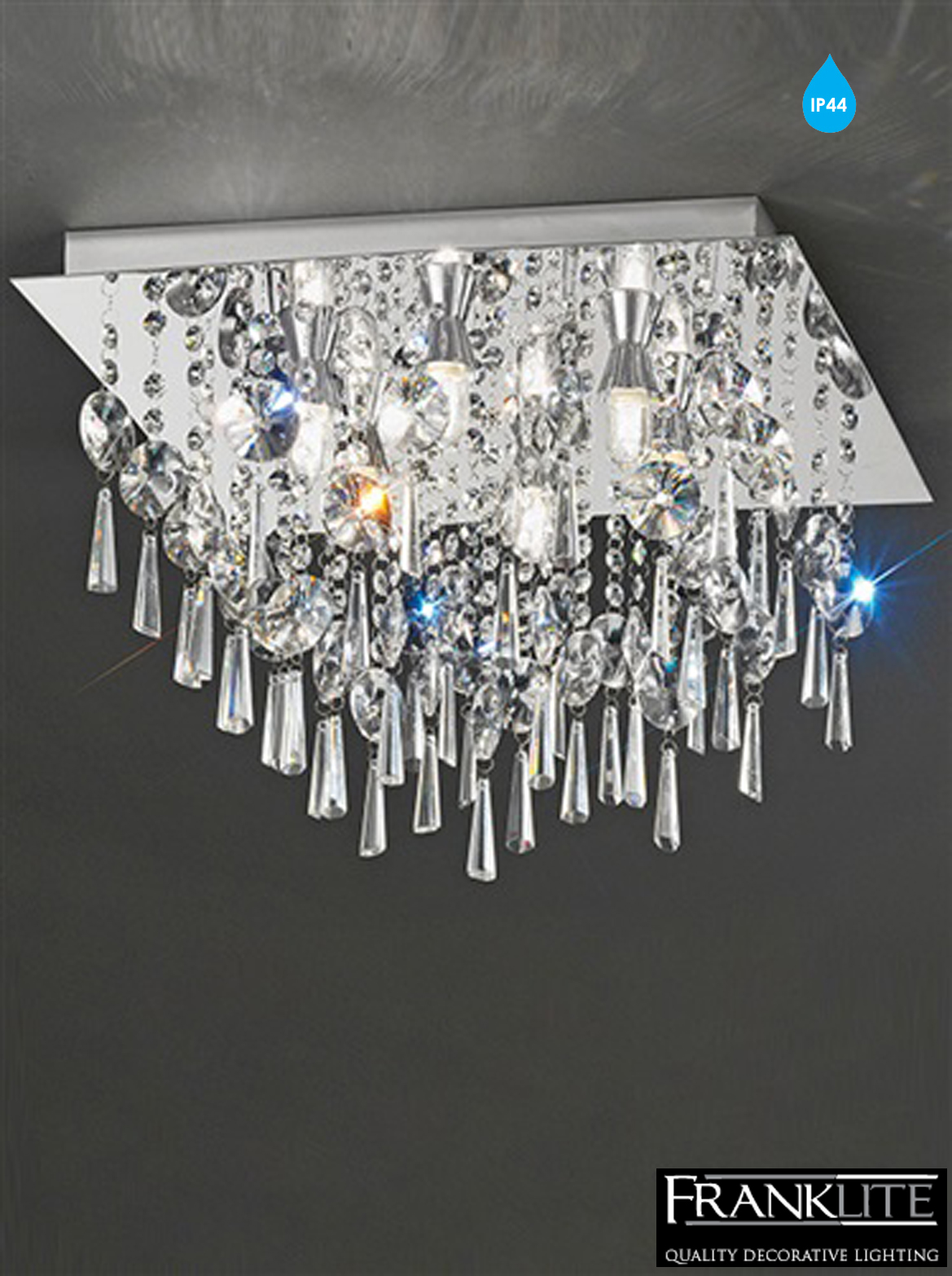 Crystal Bathroom Ceiling Light
