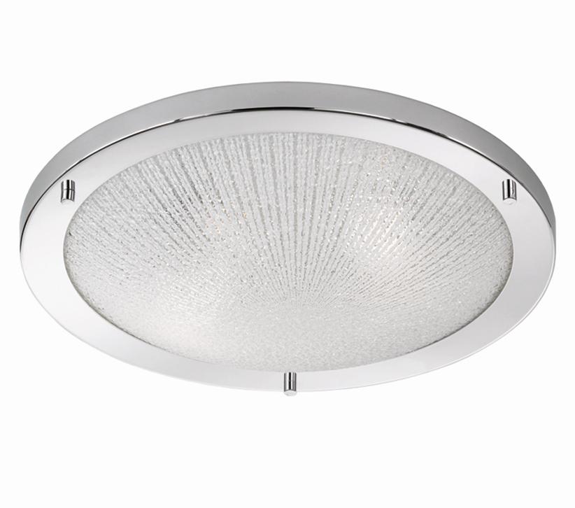 Franklite (400mm) Circular Flush Fit Ceiling/Wall Light, Chrome ...