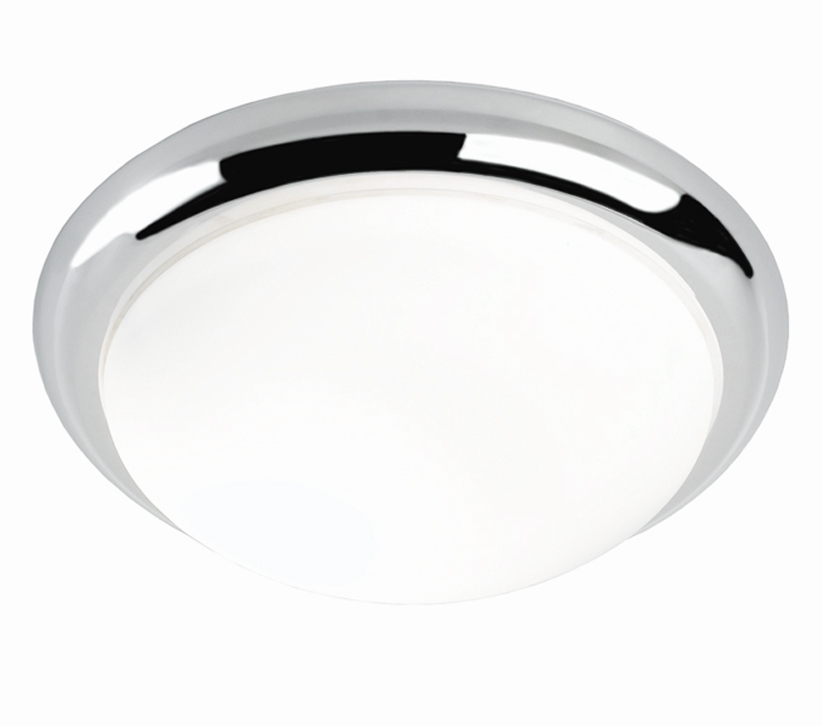 Franklite (335mm) Circular Flush Fit Ceiling/Wall Light, Chrome ...