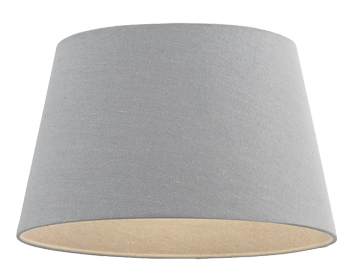 Endon Cici Tapered Shade (205mm), Grey Faux Linen Finish - 66204