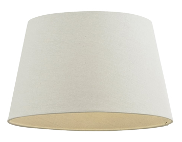 Endon Cici Tapered Shade (205mm), Ivory Faux Linen Finish - 66205