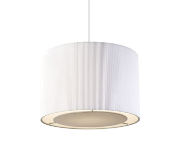 Endon Colette Small Non-Electric Pendant, Chrome Plate Finish With White Cotton Mix - COLETTE-S-WH