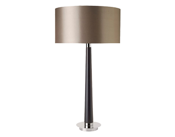 Endon chasselas floor lamp walnut wood finish with mink faux silk endon corvina table lamp walnut wood finish with mink faux silk shade corvina aloadofball Image collections