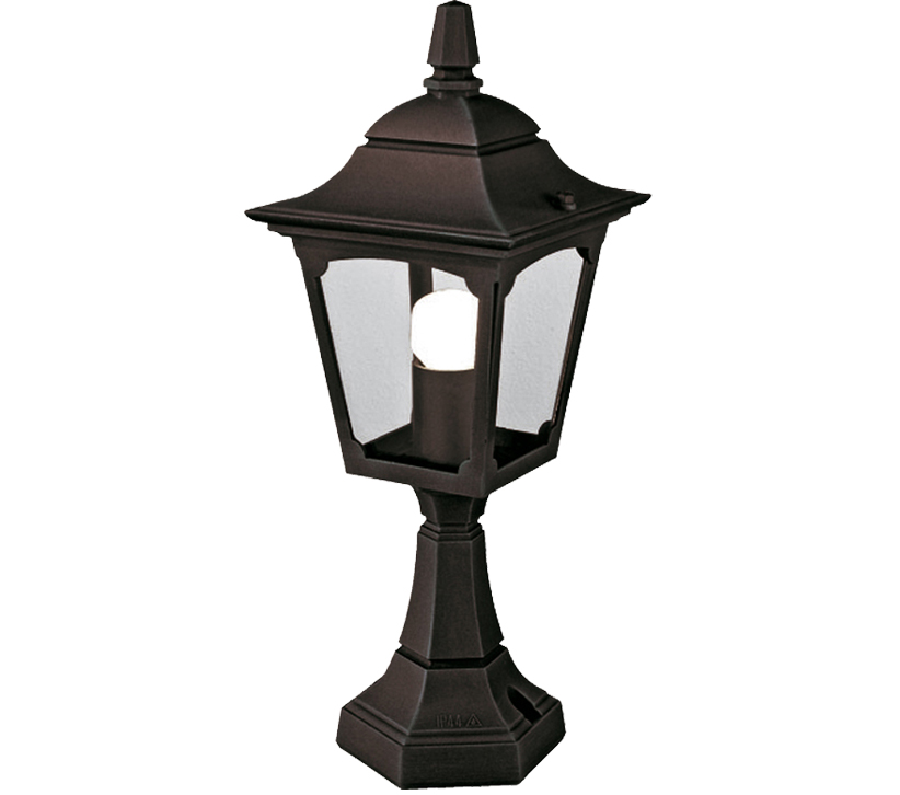Parish Mini Pedestal Lantern: Elstead Chapel Mini Pedestal Lantern, Black