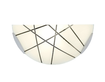 Endon 'Crosby' Wall Light White Glass, Chrome - CROSBY-1WBCH