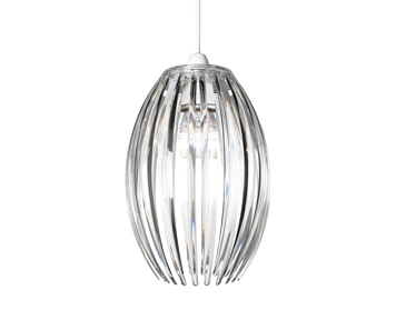 Endon Dorney Non-Electric Pendant, Clear Acrylic Finish - NE-DORNEY-CL