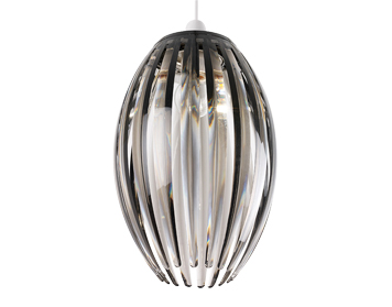 Endon Dorney Non-Electric Pendant, Smokey Acrylic Finish - SALE-NE-DORNEY-SMK