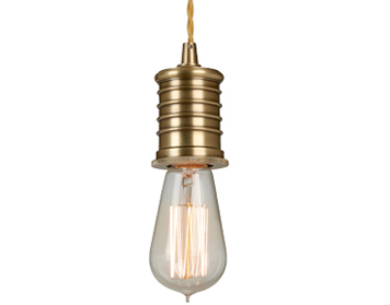 Elstead Douille 1 Light Lamp Holder Ceiling Pendant, Aged Brass - DOUILLE/P AB