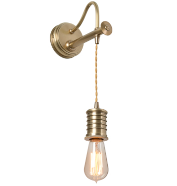 Elstead Douille 1 Light Lamp Wall Light, Aged Brass Finish - DOUILLE1 AB
