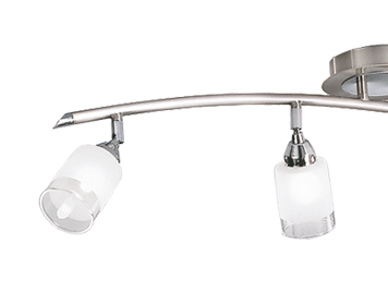 Franklite Campani Silver 4 Light Spotlight, Polished Chrome & Satin Nickel Finish - DP40024