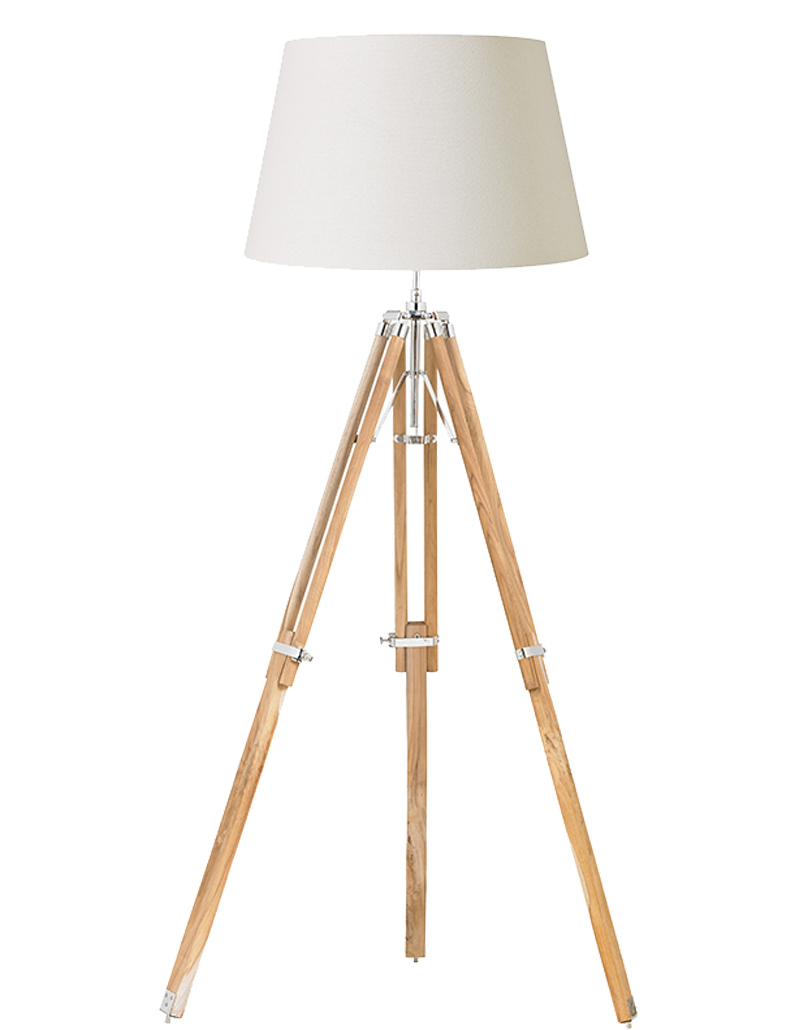 endon 39 tripod 39 natural wood tripod floor lamp eh tripod flna from easy lighting. Black Bedroom Furniture Sets. Home Design Ideas