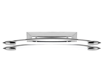 Endon Harper Twin Fluorescent Bow Shaped Fitting, Polished Chrome Finish - EL-10081