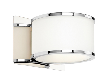 Endon Bathroom Single Wall Light, Chrome Finish - EL-20068