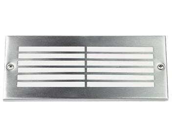 Endon Ip44 Low Energy Outdoor Recessed Brick Light Silver El 40020