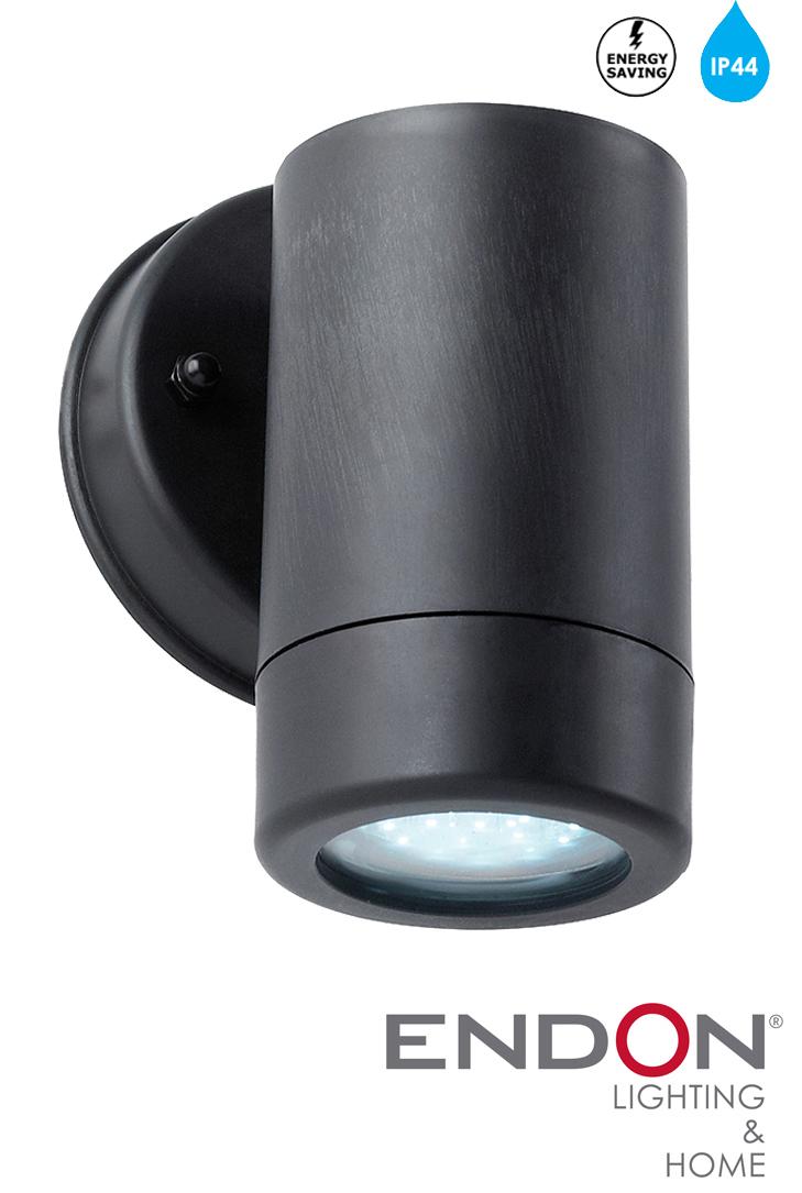 Endon LED IP44 Black Downward Outside Wall Lamp - EL-40053 from Easy Lighting